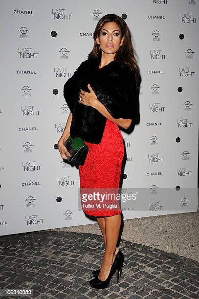 Actress Eva Mendes attends the Last Night dinner party during The 5th International Rome Film Festival at Casina Valadier on October 28 2010 in Rome...
