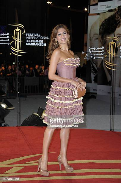 Actress Eva Mendes attends the 'Last Night' premiere during the 10th Marrakech Film Festival on December 6 2010 in Marrakech Morocco