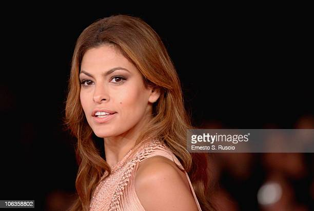 Actress Eva Mendes attends the Little White Lies premiere during The 5th International Rome Film Festival at Auditorium Parco Della Musica on October...