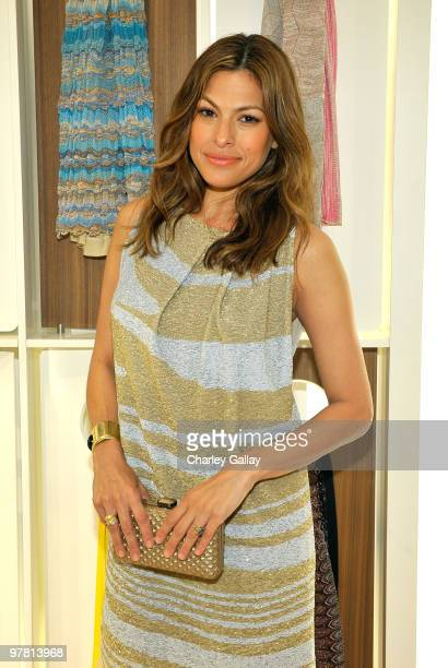 Actress Eva Mendes attends the Missoni Beverly Hills store opening held at Missoni Beverly Hills on March 17 2010 in Beverly Hills California