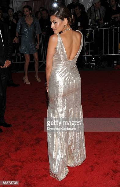 """Actress Eva Mendes attends """"The Model as Muse: Embodying Fashion"""" Costume Institute Gala at The Metropolitan Museum of Art on May 4, 2009 in New York..."""