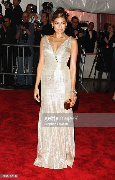 Actress Eva Mendes attends 'The Model as Muse Embodying Fashion' Costume Institute Gala at The Metropolitan Museum of Art on May 4 2009 in New York...