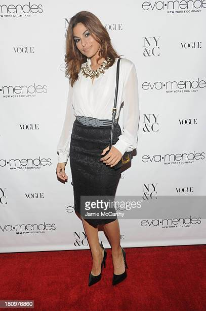 Actress Eva Mendes attends the New York Company launch at New York Company on September 18 2013 in New York City