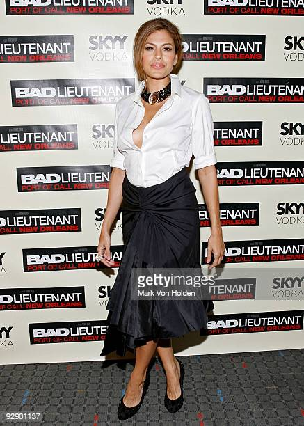 Actress Eva Mendes attends the New York premiere of 'Bad Lieutenant' at the SVA Theater on November 8 2009 in New York City