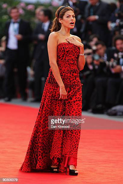 Actress Eva Mendes attends the Opening Ceremony and Baaria Red Carpet at the Sala Grande during the 66th Venice Film Festival on September 2 2009 in...