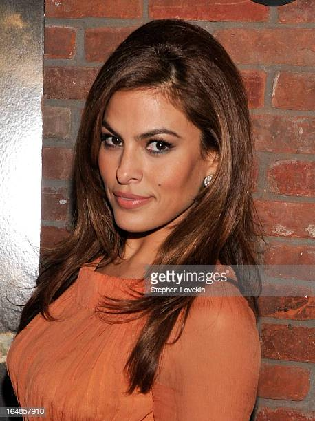 Actress Eva Mendes attends The Place Beyond The Pines New York Premiere After Party at The Bowery Hotel on March 28 2013 in New York City