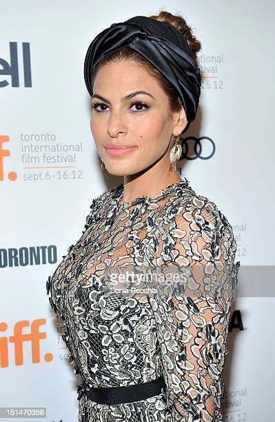 Actress Eva Mendes attends The Place Beyond The Pines premiere during the 2012 Toronto International Film Festival at Princess of Wales Theatre on...