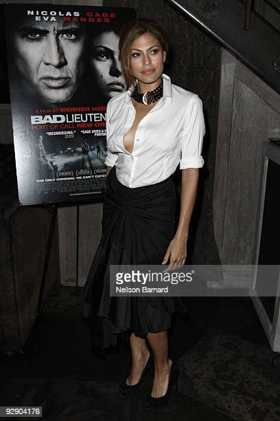 Actress Eva Mendes attends the screening after party for the 'Bad Lieutenant' at the Avenue on November 8 2009 in New York City