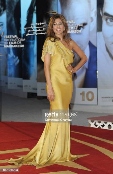 Actress Eva Mendes attends the Tribute to the French Cinema during the 10th Marrakech Film Festival on December 4 2010 in Marrakech Morocco