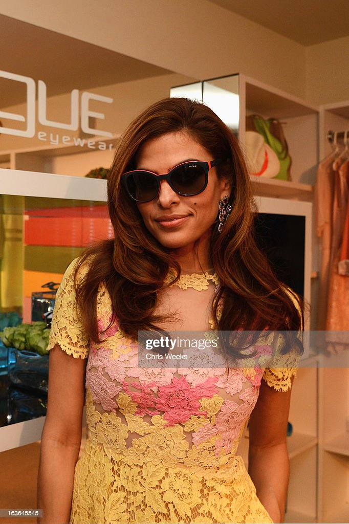 Actress Eva Mendes attends Vogue Eyewear and Eva Mendes celebrate the launch of the Spring/Summer Communications Campaign at Simon House on March 13, 2013 in Beverly Hills, California.