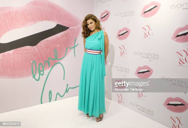 Actress Eva Mendes is seen celebrating the New York Company store opening at Dadeland Mall in Miami on March 16 2017 in Miami Florida