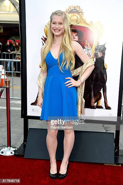 Actress Eva Peterson attends the premiere of USA Pictures' The Boss at Regency Village Theatre on March 28 2016 in Westwood California