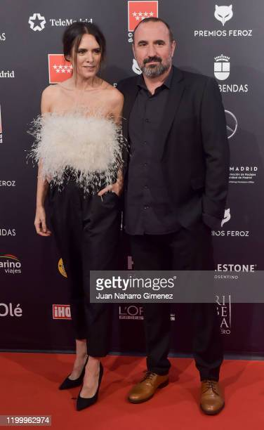 Actress Eva Santolaria attends Feroz awards 2020 red carpet at Teatro Auditorio Ciudad de Alcobendas on January 16 2020 in Madrid Spain