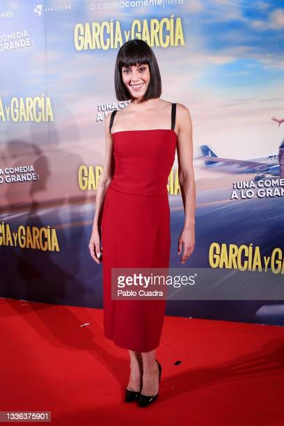 Actress Eva Ugarte attends the 'Garcia y Garcia' premiere at Callao City Lights cinema on August 25, 2021 in Madrid, Spain.