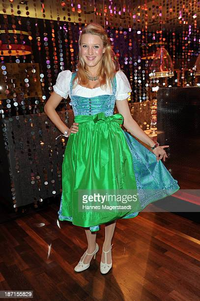 Actress Eva-Maria Grein attends the Daniel Fendler Fashion Show 'Huettenzauber' at the Leonardo Royal Hotel on November 6, 2013 in Munich, Germany.