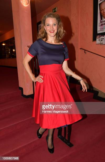 Actress EvaMaria Grein von Friedl attends the premiere of the theatre play 'Arthur Claire' at Komoedie im Bayerischen Hof on October 31 2018 in...