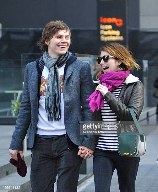 Actress Evan Peters and Emma Roberts as seen on January 8 2013 in New York City