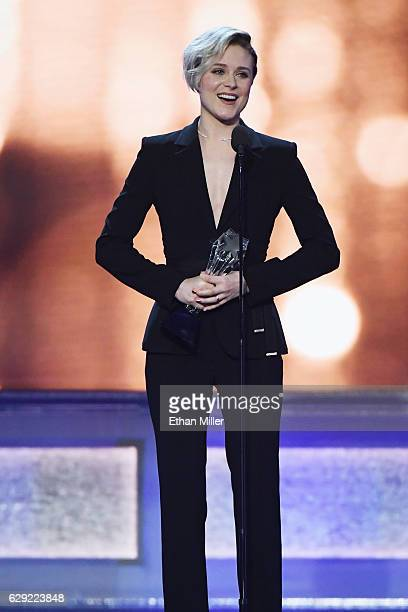 Actress Evan Rachel Wood accepts the award for Best Actress in a Drama Series for 'Westworld' onstage during the 22nd Annual Critics' Choice Awards...