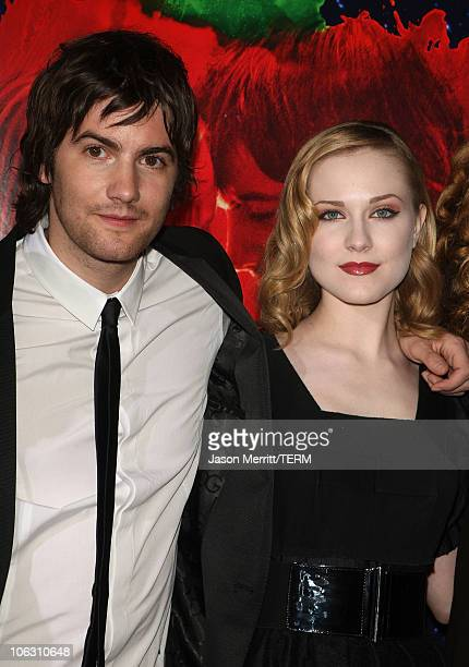 Actress Evan Rachel Wood and actor Jim Sturgess arrive for a special screening of 'Across The Universe' at the El Capitan Theatre on September 18...