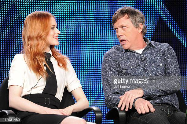 Actress Evan Rachel Wood and Writer/Director/Producer Todd Haynes speak at the HBO Winter 2011 TCA Panel held at the Langham Hotel on January 7 2011...