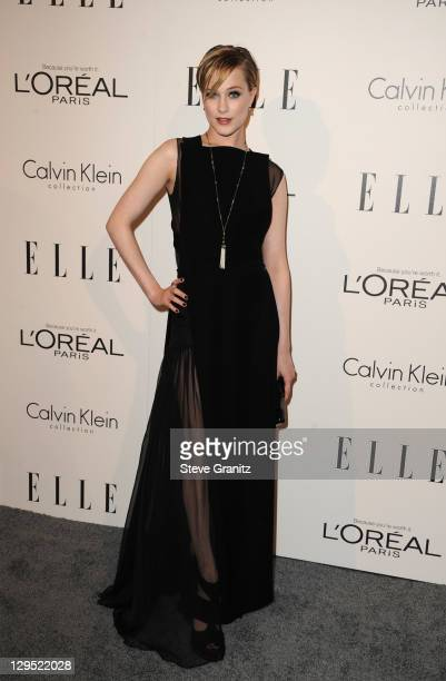 Actress Evan Rachel Wood arrives at ELLE's 18th Annual Women in Hollywood Tribute held at the Four Seasons Hotel on October 17 2011 in Los Angeles...