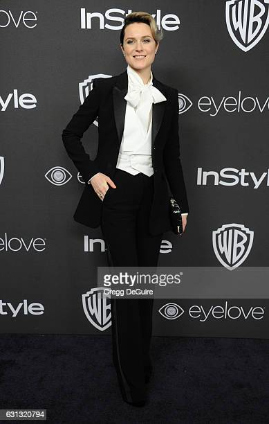 Actress Evan Rachel Wood arrives at the 18th Annual PostGolden Globes Party hosted by Warner Bros Pictures and InStyle at The Beverly Hilton Hotel on...