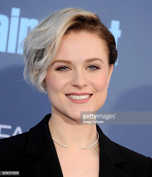 Actress Evan Rachel Wood arrives at The 22nd Annual Critics' Choice Awards at Barker Hangar on December 11 2016 in Santa Monica California