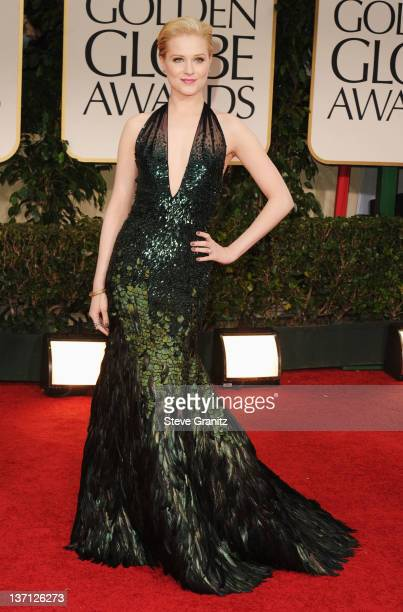 Actress Evan Rachel Wood arrives at the 69th Annual Golden Globe Awards held at the Beverly Hilton Hotel on January 15, 2012 in Beverly Hills,...