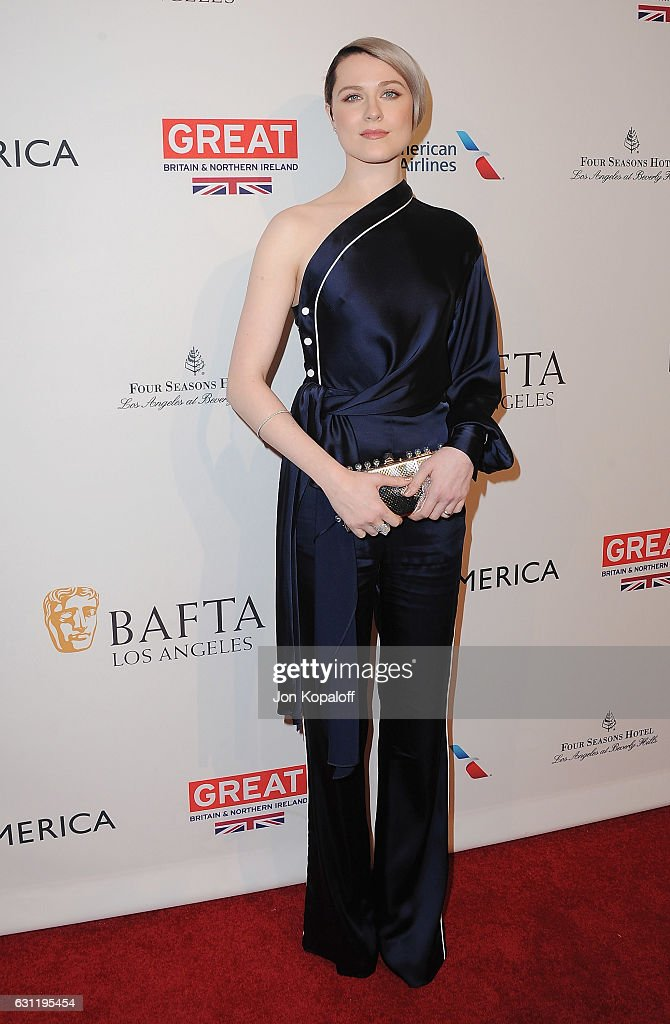 Actress Evan Rachel Wood arrives at The BAFTA Tea Party at Four Seasons Hotel Los Angeles at Beverly Hills on January 7, 2017 in Los Angeles, California.