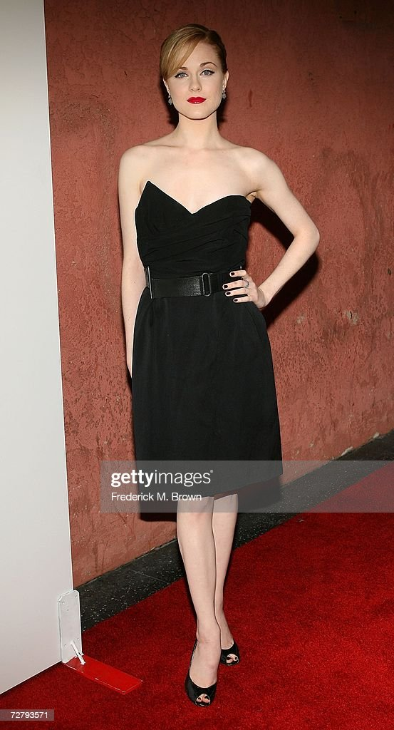Actress Evan Rachel Wood arrives at the Hollywood Life magazine's 6th Annual Breakthrough Awards held at Henry Fonda Music Box Theatre on December 10, 2006 in Hollywood, California.