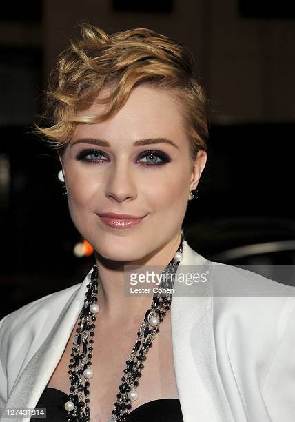 """Actress Evan Rachel Wood arrives at the """"Ides Of March"""" Los Angeles Premiere held at AMPAS Samuel Goldwyn Theater on September 27, 2011 in Beverly..."""