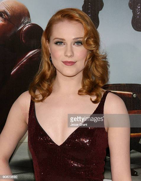 Actress Evan Rachel Wood arrives at the season 7 premiere for Curb Your Enthusiasm at the Paramount Theater on the Paramount Studios lot on September...