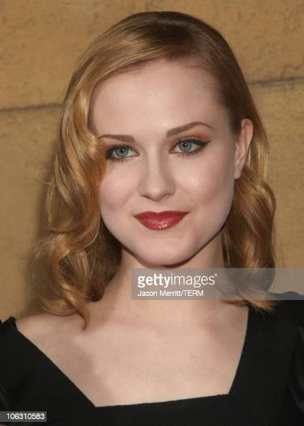 Actress Evan Rachel Wood arrives for a special screening of 'Across The Universe' at the El Capitan Theatre on September 18 2007 in Hollywood...