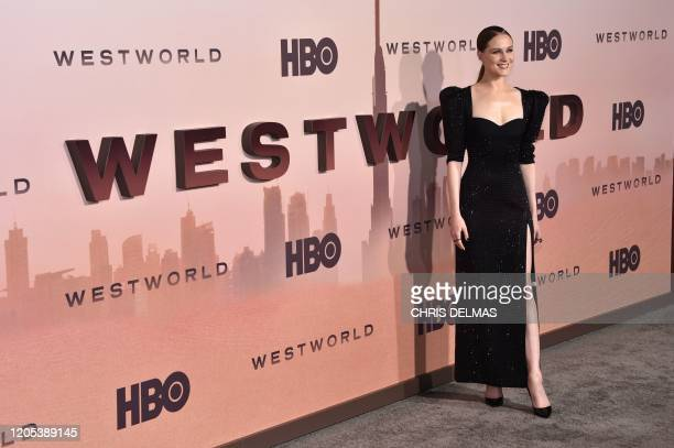 """Actress Evan Rachel Wood arrives for the Los Angeles season three premiere of the HBO series """"Westworld"""" at the TCL Chinese theatre in Hollywood on..."""