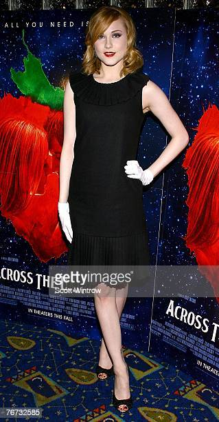 Actress Evan Rachel Wood attends a special screening of 'Across The Universe' at Chelsea West Theater on September 13 2007 in New York City