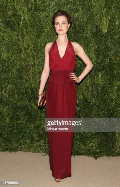 Actress Evan Rachel Wood attends CFDA and Vogue 2013 Fashion Fund Finalists Celebration at Spring Studios on November 11 2013 in New York City