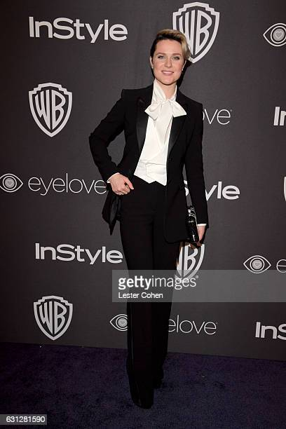 Actress Evan Rachel Wood attends the 18th Annual PostGolden Globes Party hosted by Warner Bros Pictures and InStyle at The Beverly Hilton Hotel on...