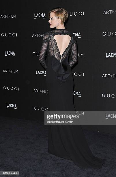 Actress Evan Rachel Wood attends the 2014 LACMA Art Film Gala Honoring Barbara Kruger And Quentin Tarantino Presented By Gucci at LACMA on November 1...