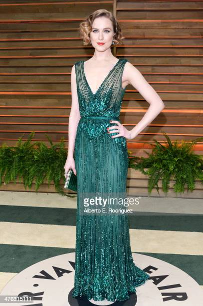 Actress Evan Rachel Wood attends the 2014 Vanity Fair Oscar Party hosted by Graydon Carter on March 2 2014 in West Hollywood California