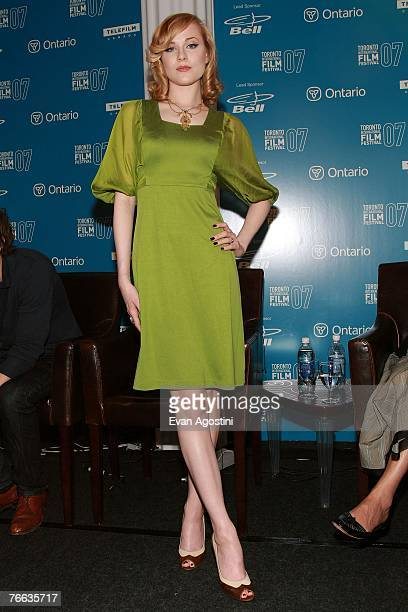 Actress Evan Rachel Wood attends the Across the Universe press conference during the Toronto International Film Festival 2007 held at the Sutton...