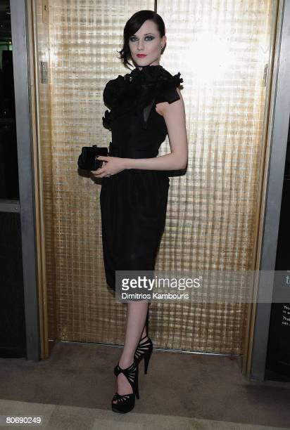 Actress Evan Rachel Wood attends the after party for The Life Before Her Eyes hosted by The Cinema Society and Nicole Miller at The Soho Grand...