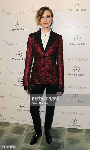 Actress Evan Rachel Wood attends The Art Of Elysium's 7th Annual HEAVEN Gala Presented By MercedesBenz on January 11 2014 in Los Angeles California