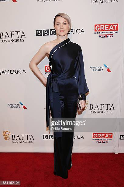 Actress Evan Rachel Wood attends The BAFTA Tea Party at Four Seasons Hotel Los Angeles at Beverly Hills on January 7 2017 in Los Angeles California