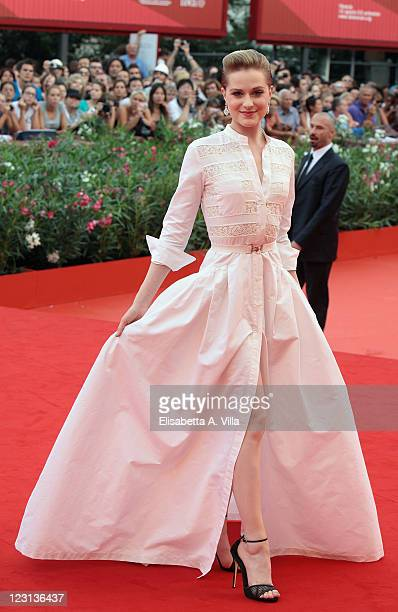 Actress Evan Rachel Wood attends 'The Ides Of March' premiere during the 68th Venice Film Festival at the Palazzo del Cinema on August 31 2011 in...