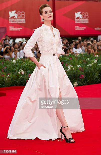 Actress Evan Rachel Wood attends The Ides Of March premiere during the 68th Venice Film Festival at the Palazzo del Cinema on August 31 2011 in...