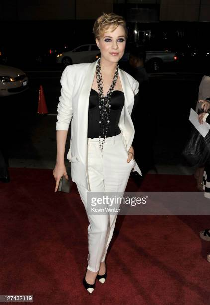 """Actress Evan Rachel Wood attends the Premiere of Columbia Pictures' """"The Ides Of March"""" held at the Academy of Motion Picture Arts and Sciences'..."""