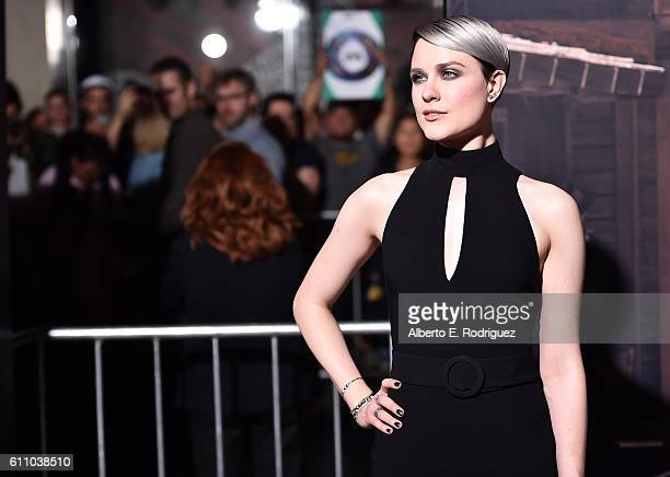 Actress Evan Rachel Wood attends the premiere of HBO's Westworld at TCL Chinese Theatre on September 28 2016 in Hollywood California