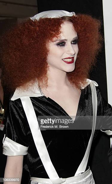 Actress Evan Rachel Wood attends The Rocky Horror Picture Show 35th anniversary tribute at the Wiltern Theatre on October 28 2010 in Los Angeles...