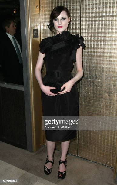 Actress Evan Rachel Wood attends the The Life Before Her Eyes screening after party hosted by The Cinema Society and Nicole Miller on April 15 2008...