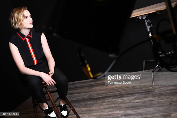 Actress Evan Rachel Wood behind the scenes at the Guess Portrait Studio during the 2015 Toronto International Film Festival on September 12 2015 in...